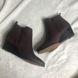 Franco Sarto Booties 8.5 Wine Burgundy Boots Shoes